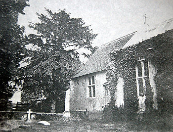 Hulcote chancel from the north-west about 1900 [Z669/17]